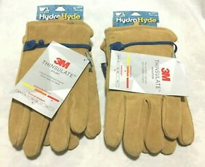 Wells Lamont Leather Winter 3m Thinsulate Insulated Gloves Large 2 Pack