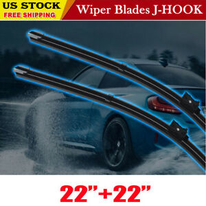 New 22 22 Windshield Wiper Blades Bracketless Oem Quality All Season Premium