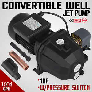 1 Hp Shallow Or Deep Well Jet Pump W Pressure Switch Irrigate Supply Water Ip44