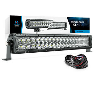 Exclusive Kl1 22 120w Offroad Led Light Bar Stp Reflector 40a Relay Wire Harnes