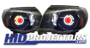 2005 Thru 2011 Toyota Tacoma Headlights Retrofit Angel Eyes Demon New