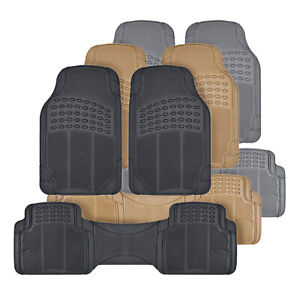 Rubber Car Floor Mats Odorless All Weather Protection Auto Truck Suv 3 Colors