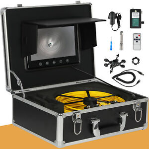 30m Sewer Waterproof Camera Pipe Pipeline Drain Inspection System 7 Lcd