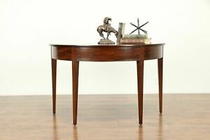 Demilune Half Round Antique 1800 S Mahogany Server Or Hall Console Table 31104