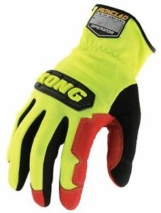 General Utility High Visibility Mechanics Gloves Synthetic Leather Palm