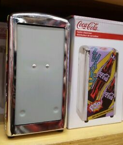 Metal Coca-Cola Napkin Dispenser Coke Store New Holiday Birthday Christmas Gift