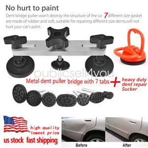 Car Auto Puller Bridge Suction Cup Sucker Body Dent Repair Removal Kit Usa