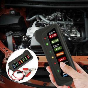 12v Car Digital Battery Load Tester 6 Leds Alternator Vehicle Battery Analyzer K
