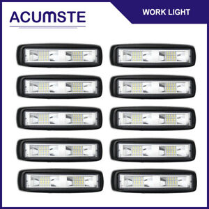 10x 48w Cree Led Spot Light Work Bar Driving Fog For Offroad Car Suv Boat Truck