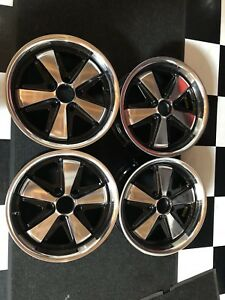 Porsche 911 964 993 Fuchs Style Wheels With Hearts 7 X 17 Polished Alloys