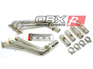 Obx Stainless Exhaust Long Tube Header For 2010 To 2014 Camaro Ls lt 3 6l V6