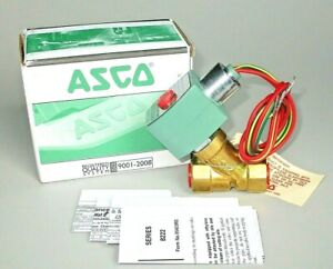 Asco Red Hat Solenoid Valve 8222g064 Steam 3 8 Npt 120v Watertight Coil N c