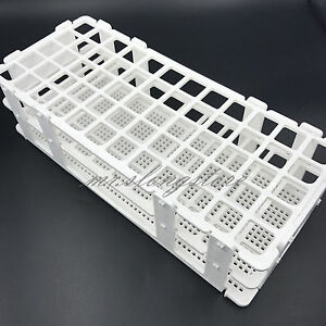 60 Holes 16mm 3 Layers Plastic Test Tube Rack Holder Storage Stand Lab Equipment
