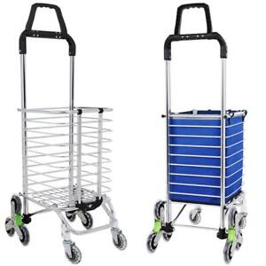 Urban Stair Climbing Cart 8 Wheels Folding Grocery Laundry Shopping Us 02