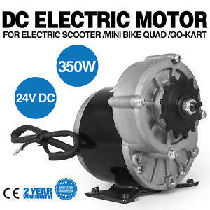 350w Dc Electric Motor 24v 3000rpm Gear 9 7 1 Reduction Scooter Chain Drive
