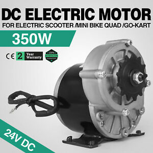350w Dc Electric Motor 24v 3000rpm Gear Ratio 9 7 1 Atv 18 4 Amps 1 2 Inch Pitch
