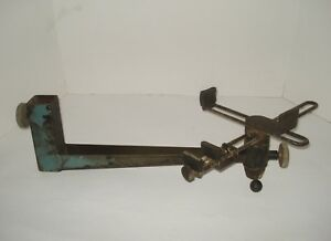 Vtg Long arm Rotating Swivel Circuit Board Cross double Clamp Workholding Vise