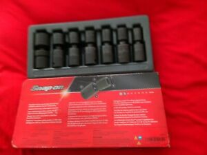 Snap on 7 Pc 1 2 Drive 6 point Metric Flank Drive Shallow Impact Swivel Socket
