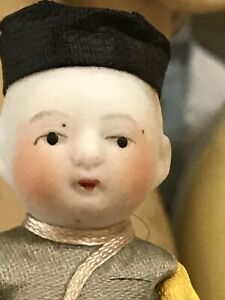 Antique Porcelain Doll Little Asian Boy