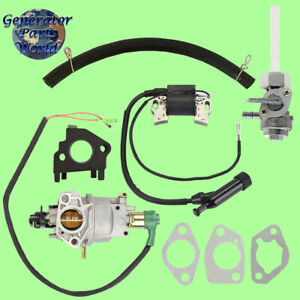Champion Carburetor W Solenoid Petcock Ign Coil For 71351 4000 Pressure Washer