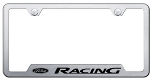 Ford Racing Brushed License Plate Frame Licensed Laser Etched Premium Design