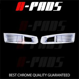 For 2008 2009 2010 2011 Cadillac Cts Front Fog Light Lamp Bezel Chrome Cover 2pc