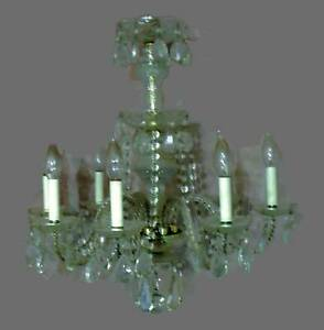 Vintage Crystal Chandelier Hanging Light With Swags