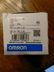 Omron Plc Twin Timer H3cr f8 100 240v Ac New In Box