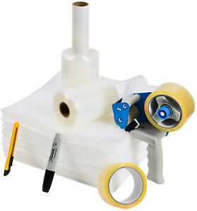 Packing Tape Moving Kit And Supplies With Shipping Tape Gun Dispenser 2 Rolls X