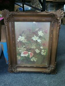 Vintage Wood Look Ornate Plastic Picture Frame