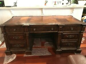Trump Home Collection Westchester Cortlandt Manor 74 W Executive Desk Med Brown