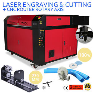100w Co2 Laser Engraving Machine Rotary A axis Dsp Control Engraving Air Assist