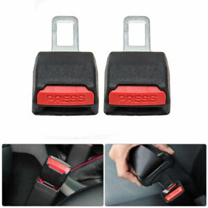 2 Car Truck Safety Seat Belt Buckle Extension Extender Clip Alarm Stopper Usa
