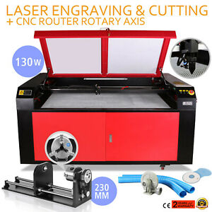 130w Co2 Laser Engraving Machine Rotary A axis Usb Port U flash Air Assist