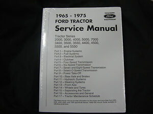 2000 3000 2400 4000 4400 4500 5000 5500 7000 Ford Tractor Service Manual