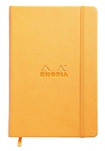 Rhodia Webnotebook Webbies Dot Grid 96 Sheets 5 1 2 X 8 1 4 Orange Cover