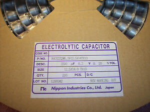 Qty 200 3300uf 6 3v 12 5x14mm Smd Electrolytic Capacitors Nace332m6 3v12 5x14