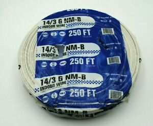 Wire Encore Nm b 14 3 Wg 250 Ft Romex 14 3 Made In Usa