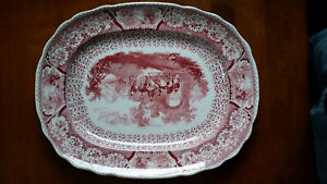 Arabian Sketches By William Hackwood 1830s Platter Antique Transferware China