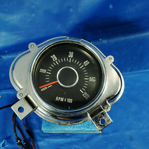 Rare Original 68 Ford Galaxie 500 Xl Console Tachometer 500xl Gt Ltd 1968 67