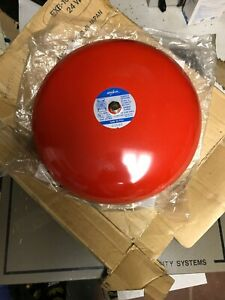 Amseco Exb 10 pv4 Red Fire Alarm Bell 12vdc 0 12a New Minor Scratch