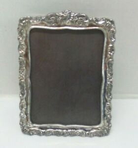 Vintage Wallace Baroque Silverplate Picture Frame 3 X 4