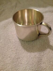 Vintage 925 Sterling Silver Baby S Drinking Cup Marked John 64 Grams