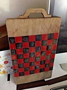 Antique Primitive Farmhouse Checkerboard Game Board Slate Nice Old Paint