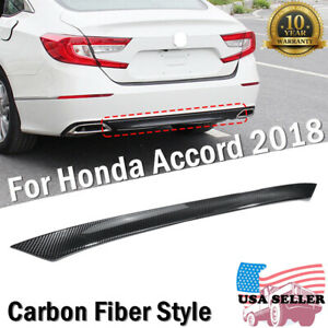 Carbon Rear Bumper Chin Lip Cover Spoiler Wing Diffuser For Honda Accord 2018