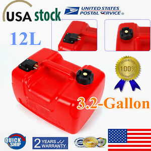3 2 Gallon Portable Marine Outboard Boat Fuel Tank Low Permeation W Connector
