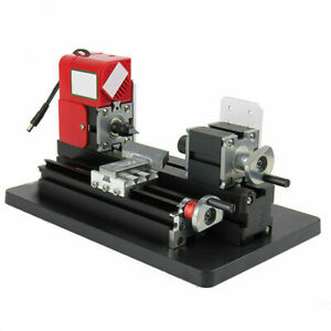 Mini Metal Lathe Machine 24w Diy Tool Woodworking Hobby Modelmaking 20000rpm 12v
