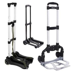 Portable Folding Cart Dolly Push Luggage Hand Truck Collapsible Trolley