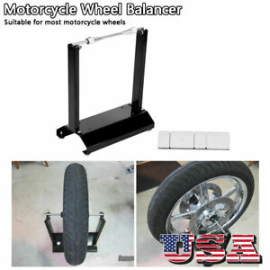 Motorcycle Wheel Balancer Maintenance Rack For Most Motorcycle Wheel Black
