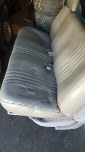 1995 1998 Chevy 1500 2500 3500 Truck Bench Seat Gray Leather Like Front